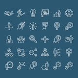 Set of thin line business people icons Stock Photography