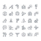 Set of thin line business people icons Royalty Free Stock Image