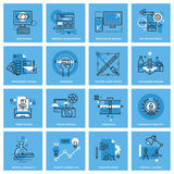 Set of thin line concept icons of different categories of graphic design, website and app design and development Royalty Free Stock Image
