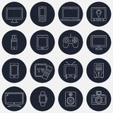 Set of thin line devices icons for mobile apps and web design. Vector illustration Royalty Free Stock Image