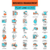 Set of thin line icons business management, leadership Royalty Free Stock Photography