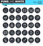 Set of thin line icons for dental care Royalty Free Stock Photography