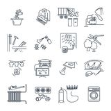 Set of thin line icons household appliances, equipment Royalty Free Stock Photos