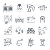 Set of thin line icons household appliances, equipment Royalty Free Stock Photo