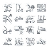 Set of thin line icons public utility, construction Royalty Free Stock Photo