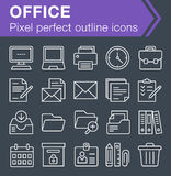 Set of thin line office icons. Royalty Free Stock Image