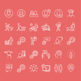 Set of thin line people icons. Set of thin line icons Royalty Free Stock Photos