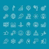 Set of thin line people icons for business Stock Photography
