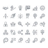 Set of thin line people icons Royalty Free Stock Photos