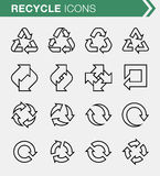 Set of thin line recycle icons. Pixel perfect icons for mobile apps and web design Stock Photography