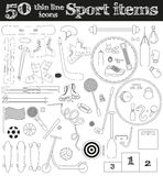 Set of 50 thin line sport icons. Vector illustration vector illustration