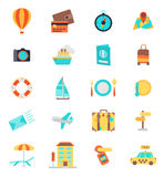 Set of thin line travel icons. Color version Stock Images