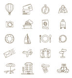 Set of thin line travel icons Royalty Free Stock Photography