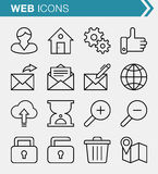 Set of thin line web and business icons. Royalty Free Stock Photo
