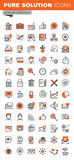 Set of thin line web icons of basic business tools Royalty Free Stock Photos
