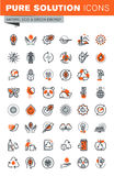 Set of thin line web icons of environment Royalty Free Stock Image