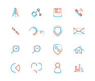 Set of thin line web icons Stock Images