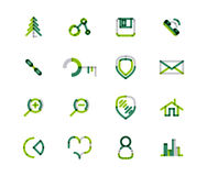 Set of thin line web icons Royalty Free Stock Image