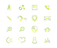 Set of thin line web icons Royalty Free Stock Image