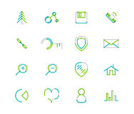 Set of thin line web icons Royalty Free Stock Photography