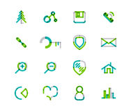 Set of thin line web icons Royalty Free Stock Images