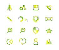 Set of thin line web icons Royalty Free Stock Photo
