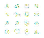 Set of thin line web icons Royalty Free Stock Photos