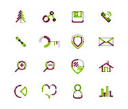 Set of thin line web icons Stock Photo