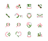 Set of thin line web icons Royalty Free Stock Photo