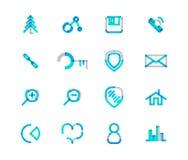 Set of thin line web icons Royalty Free Stock Photos
