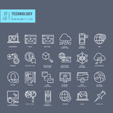 Set of thin line web icons for technology Royalty Free Stock Photos