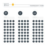 Set of thin line web icons for technology Stock Photo