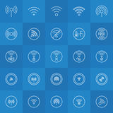 Set of thin line wi-fi icons Stock Photos