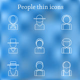 Set of thin people icons Stock Photography