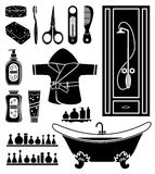 Set of things for bathing Stock Photography