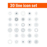Set of thirty angular abstract vector icons Stock Images