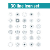 Set of thirty angular abstract vector icons Stock Photo