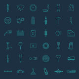 Set of thirty six car parts icons Stock Photography