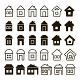 Set of thirty universal icons home Stock Image