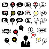The set of thought bubbles (vector) Royalty Free Stock Photography