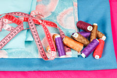 Set of thread for sewing clothes Royalty Free Stock Images
