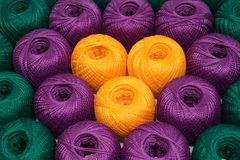 Set of threads. Set of colourful threads Stock Images