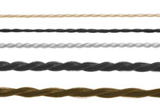 Set of threads of different thickness. A set of threads of different thickness isolated on white Royalty Free Stock Photo