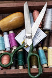 Set of threads of different types,colors and lengths Royalty Free Stock Image