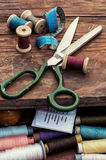 Set of threads of different types,colors and lengths Royalty Free Stock Photography