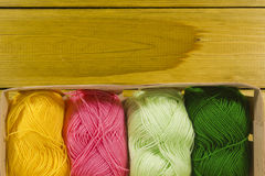 Set of threads for knitting Royalty Free Stock Images