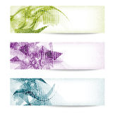 Set three abstract banner Royalty Free Stock Photography
