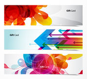 Set of three abstract banners. Royalty Free Stock Photo