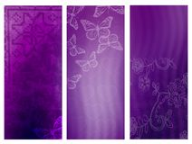 Violet banners royalty free stock image