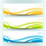 Set of three abstract banners Stock Image